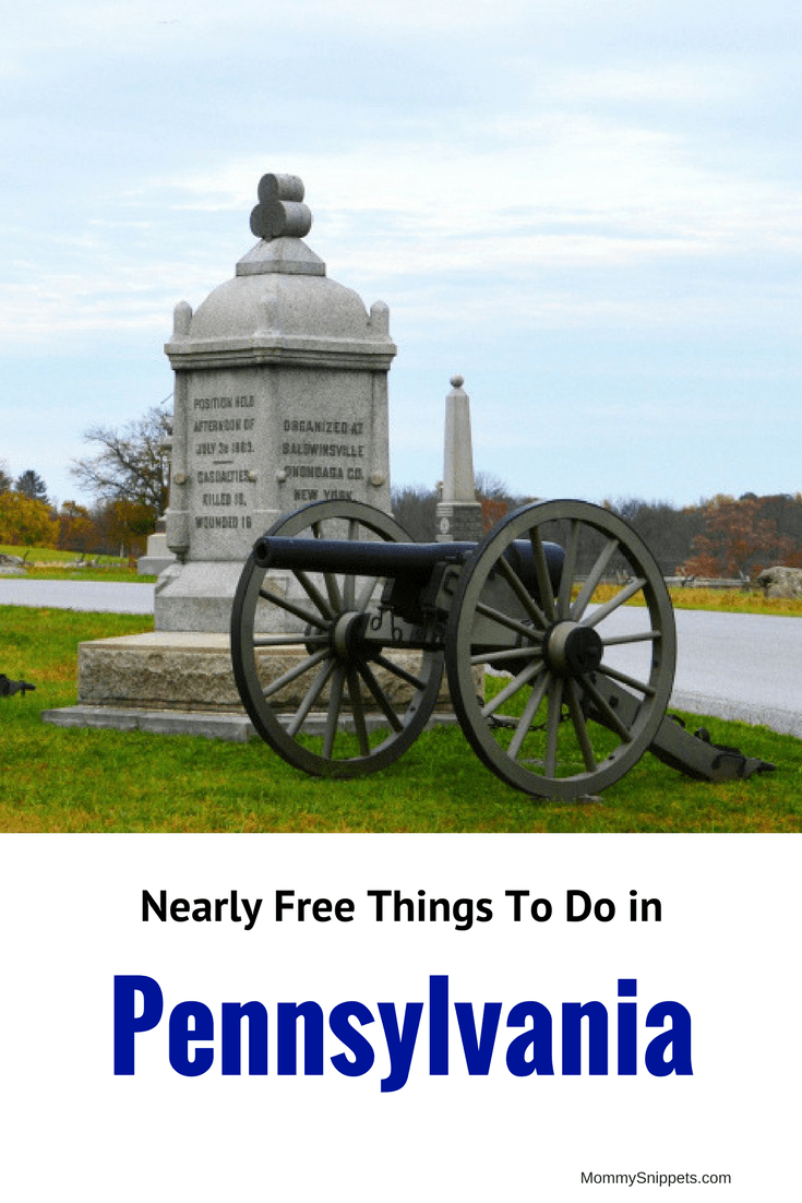 Nearly Free Things To Do in Pennsylvania- MommySnippets.com