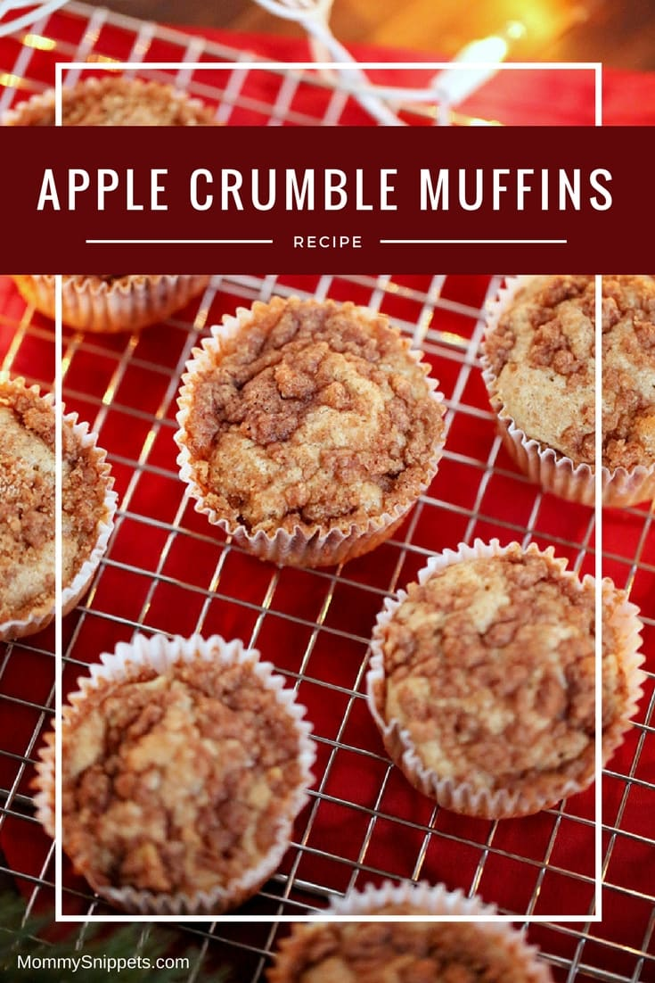 How to make delicious Apple Muffins with a Crumble Topping and Pecans!- MommySnippets.com