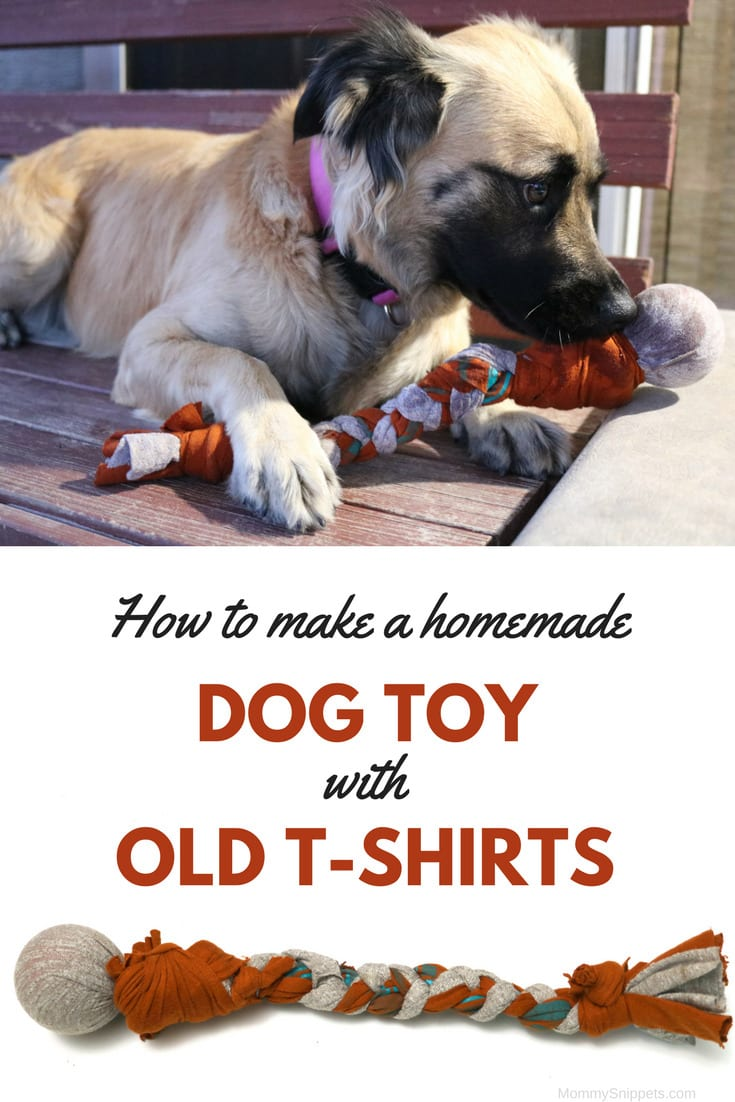 How to make a homemade dog toy with old t-shirts - MommySnippets.com #FortunaForAll #cbias #ad