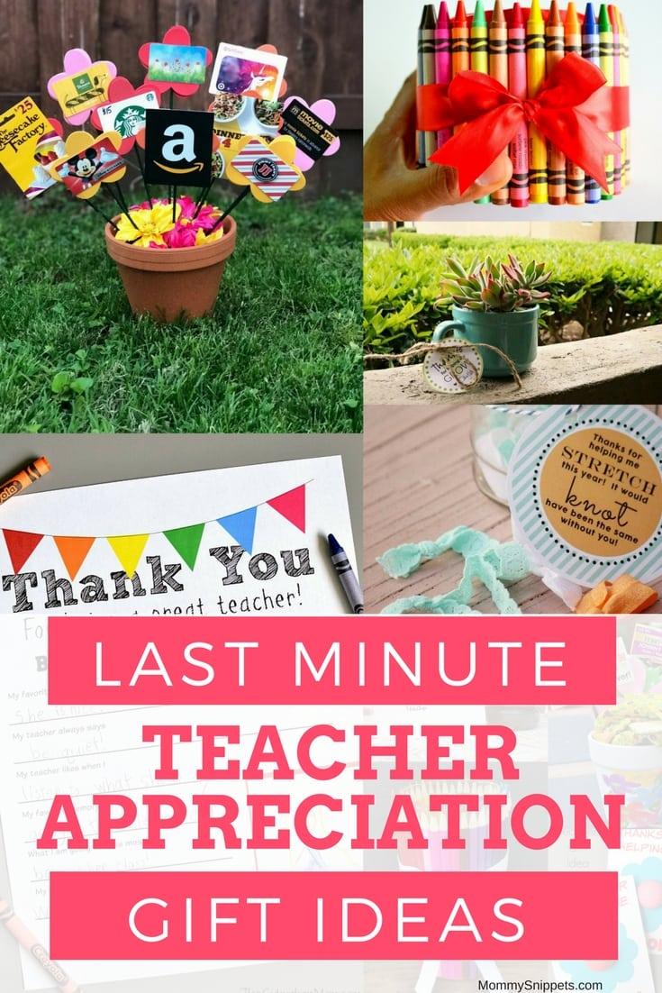 last minute gift ideas for teacher appreciation week