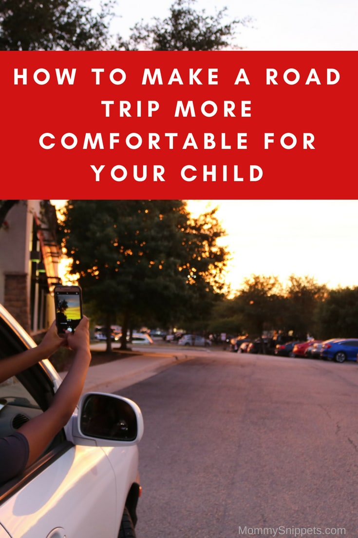 How to make a road trip more comfortable for your child- MommySnippets.com #travel #sponsored #seethegood #squeezetheday #treetop #treetopapplesauce @TreeTop #roadtrip