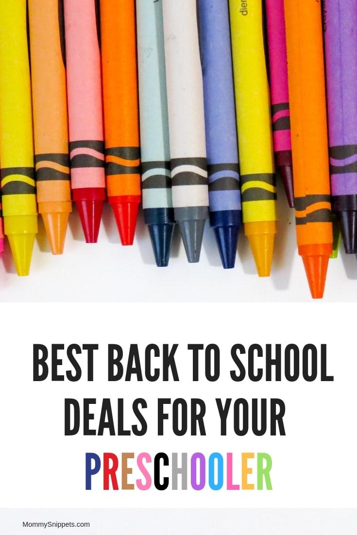 Some of the best Back To School deals for your preschooler