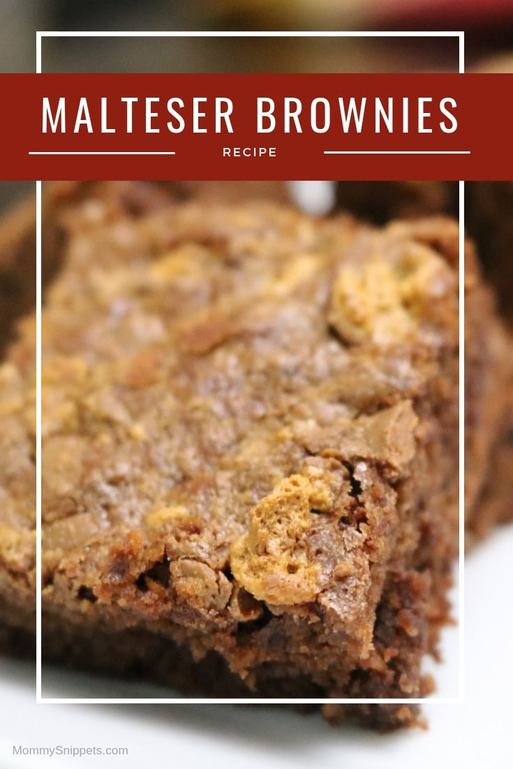 Decadent Malteser Brownies- MommySnippets.com #MaltesersAtHEB #sponsored (4)