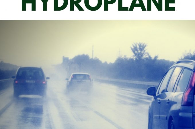 Driver safety on how to drive through a hydroplane