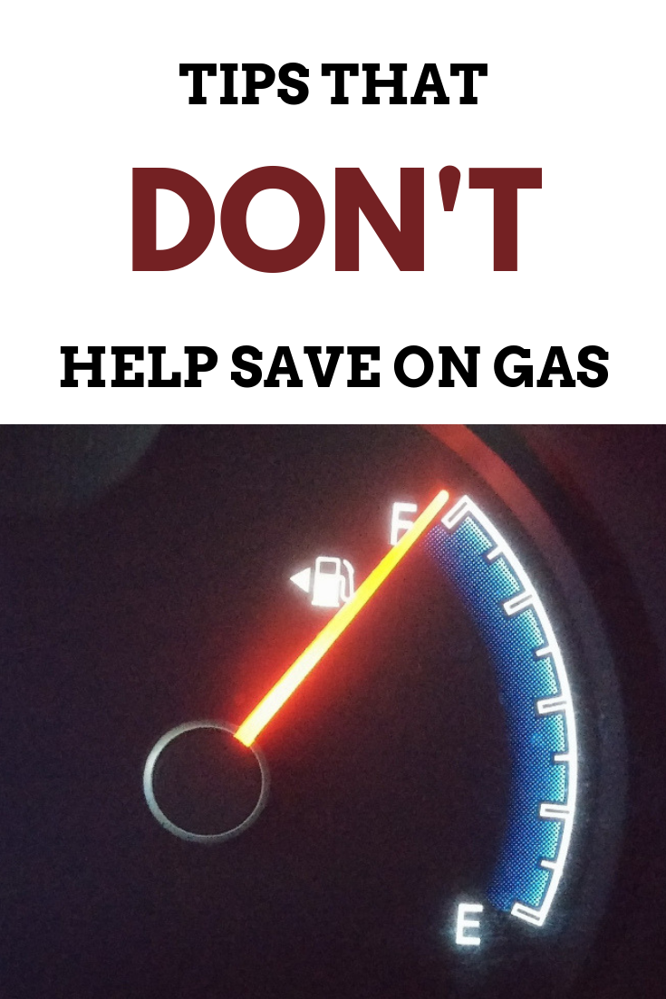 Tips that DON'T help save on gas!-MommySnippets.com