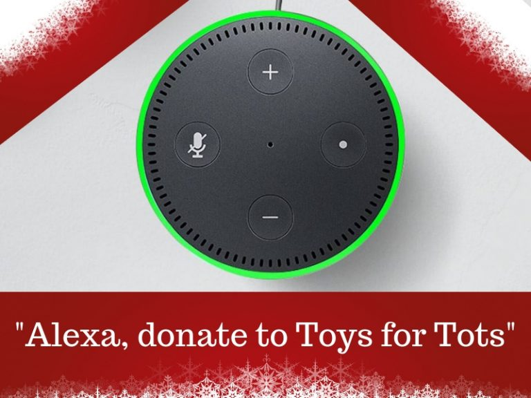 Bless more kids when you Donate to Toys for Tots through Alexa