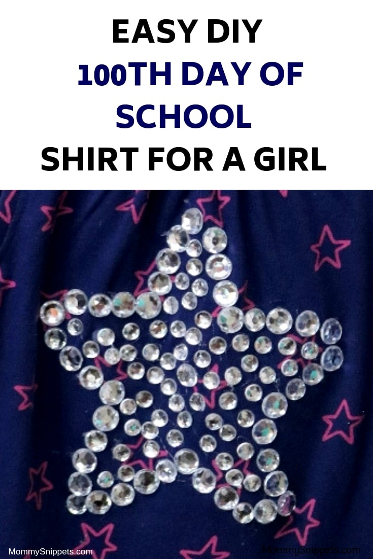DIY Easy 100th day of school shirt for a girl - MommySnippets.com