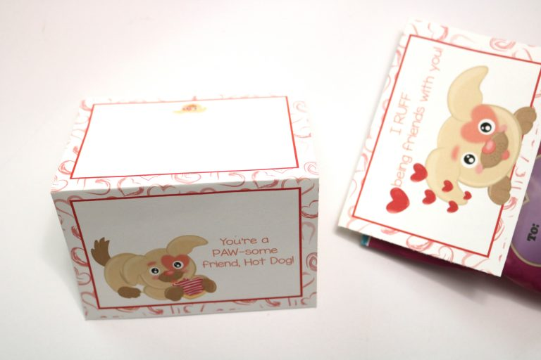 Last minute classroom valentine's day cards for dog lovers (+ Printable Puppy Valentine's Day Cards)