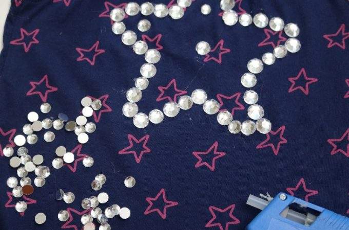 How to make an easy 100th day of school shirt for a girl