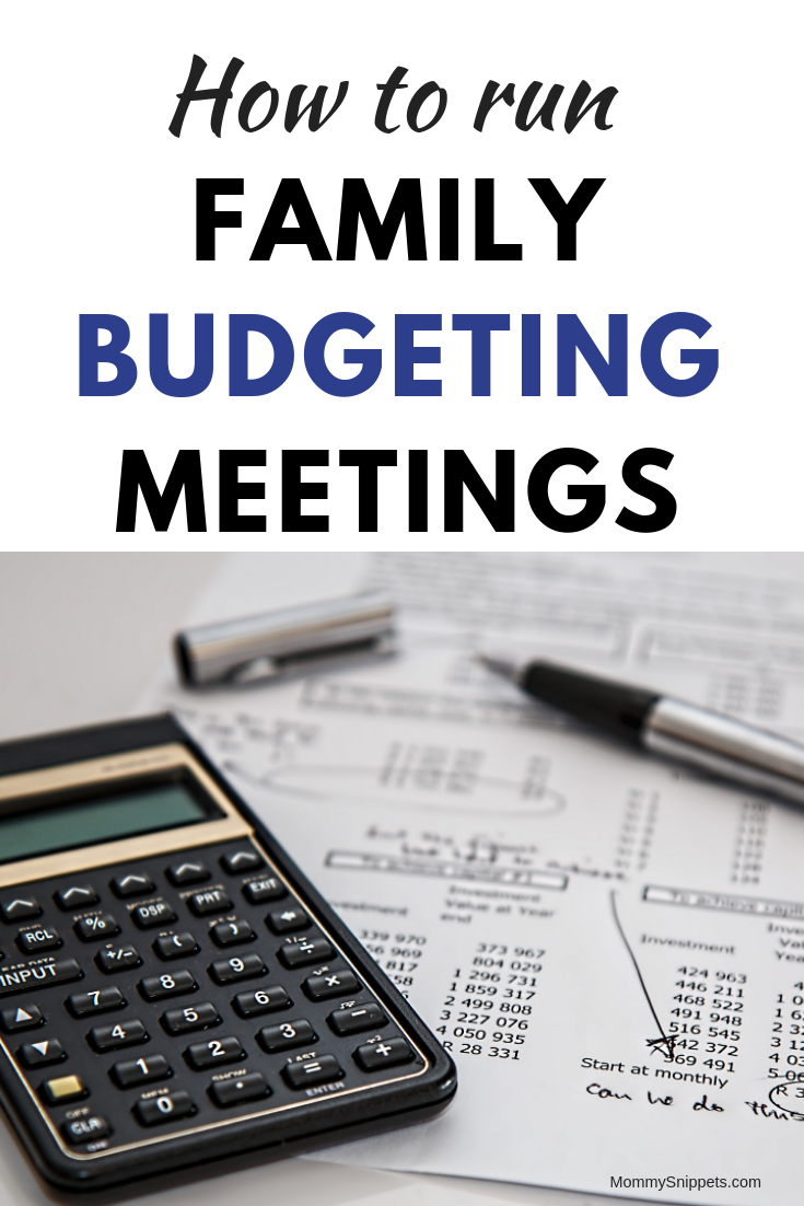 How to Run Family Budgeting Meetings - MommySnippets.com #sponsored