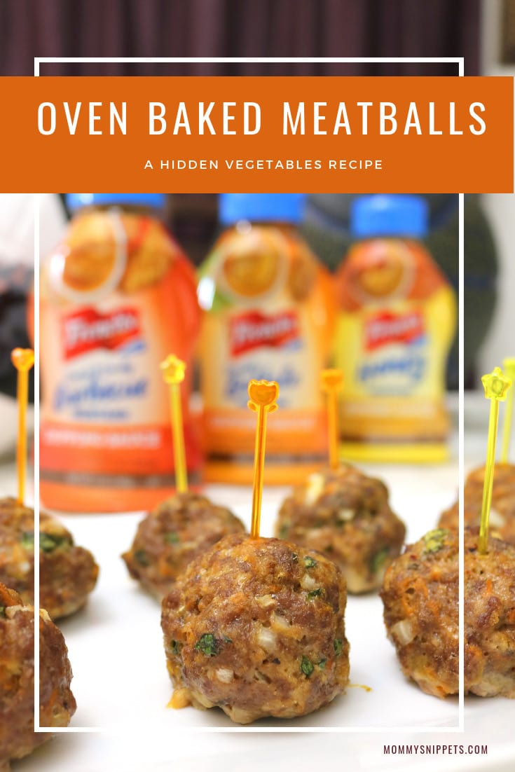 The best oven baked meatballs with hidden vegetables - MommySnippets.com #FrenchsDippingSauces #CollectiveBias #ad