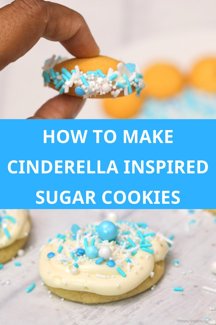 How to make Cinderella Inspired Sugar Cookies- MommySnippets.com #Sponsored #Disney