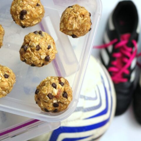 No Bake Peanut Butter Protein Balls Recipe - The Best After School Power Snack for Athletes