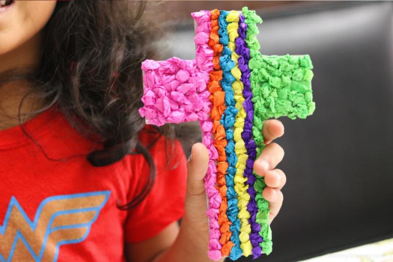 An easy Cross craft to encourage a child's faith.