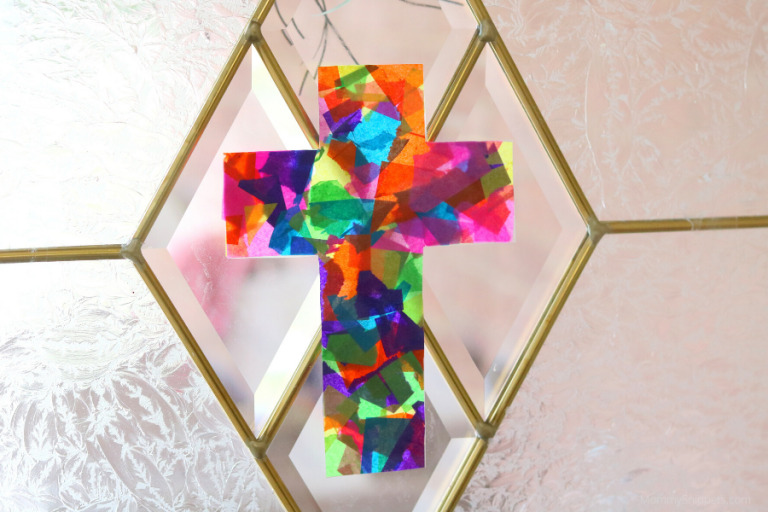 How to make a Stained Glass Tissue Paper Cross