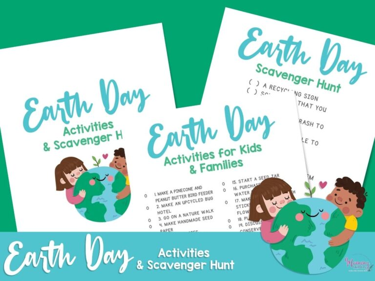 15 Earth Day Activities Your Kids Will Love (+ Earth Day Scavenger Hunt Printable)
