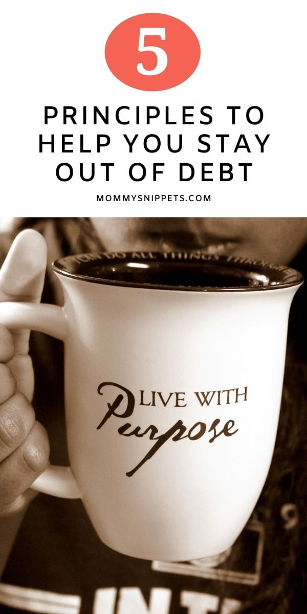 5 Principles To Help You Stay Out Of Debt- MommySnippets.com
