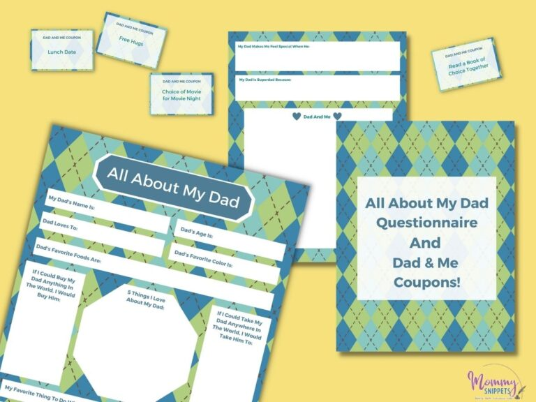 How to Surprise Dad on Father's Day (+ A Free All About Dad Printable)