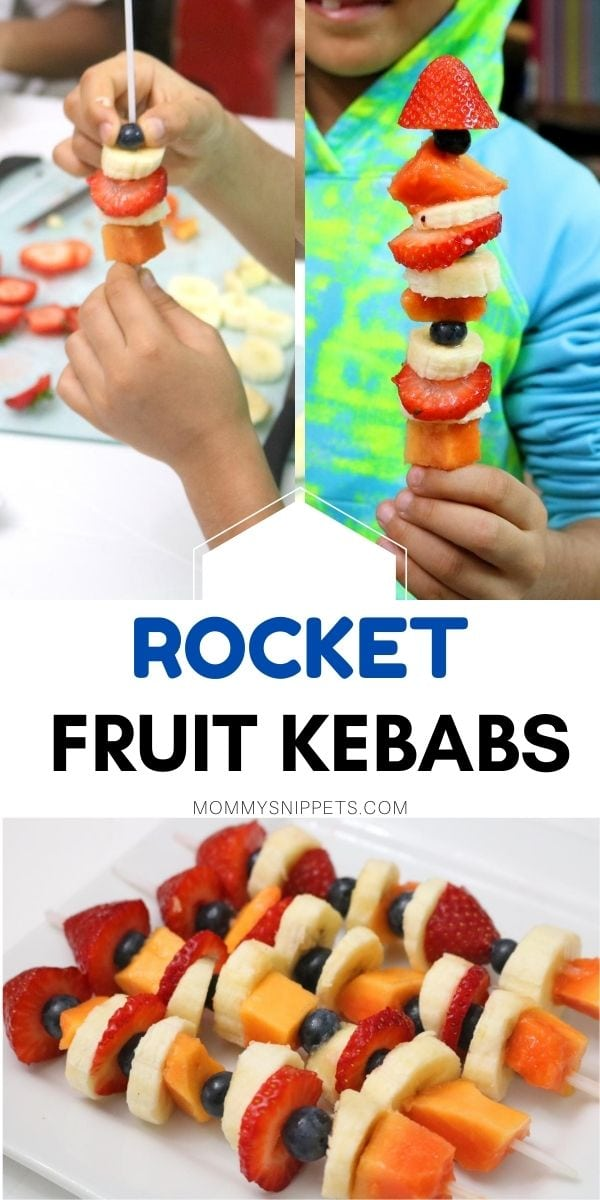 Rocket Fruit Kebabs- MommySnippets.com