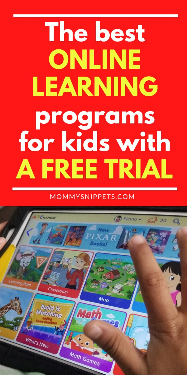 The best online learning programs for kids with a free trial- MommySnippets.com