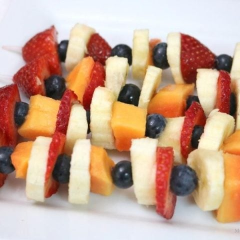 Rocket Fruit Kebabs