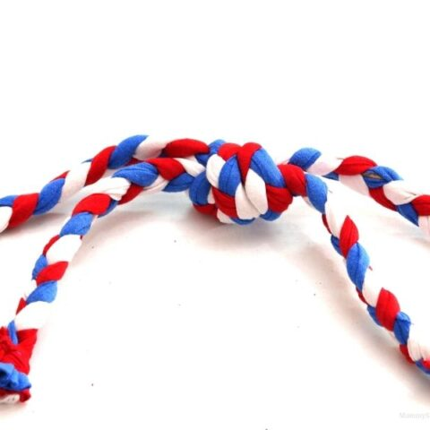 Easy Patriotic Dog Tug Toy Tutorial