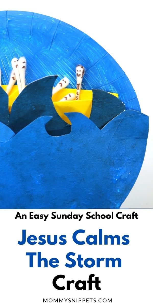 Jesus Calms The Storm- An Easy Sunday School Craft with MommySnippets.com