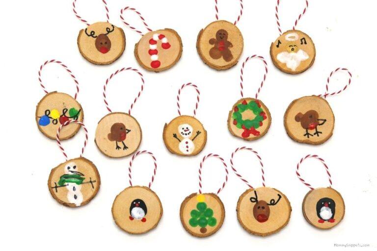 Easy Fingerprint Christmas Ornament Crafts for Kids (+ Printable Christmas Countdown Calendar)