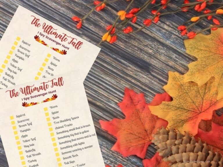 10 Inexpensive and Fun Fall Activities for the Family (+ Printable Fall Scavenger Hunt List)