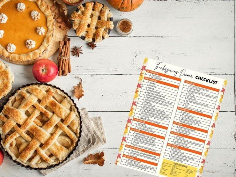 How to make Thanksgiving easier for picky eaters (+ Free Printable Thanksgiving Dinner Checklist)