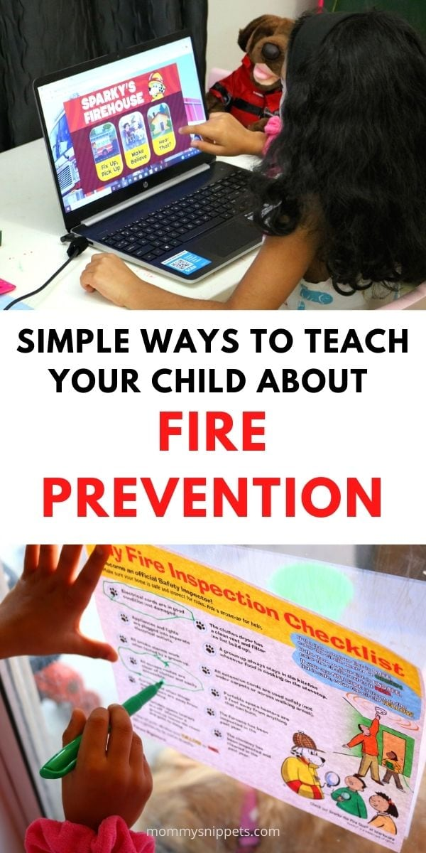 Simple Ways to Teach Your Child about Fire Prevention- MommySnippets.com