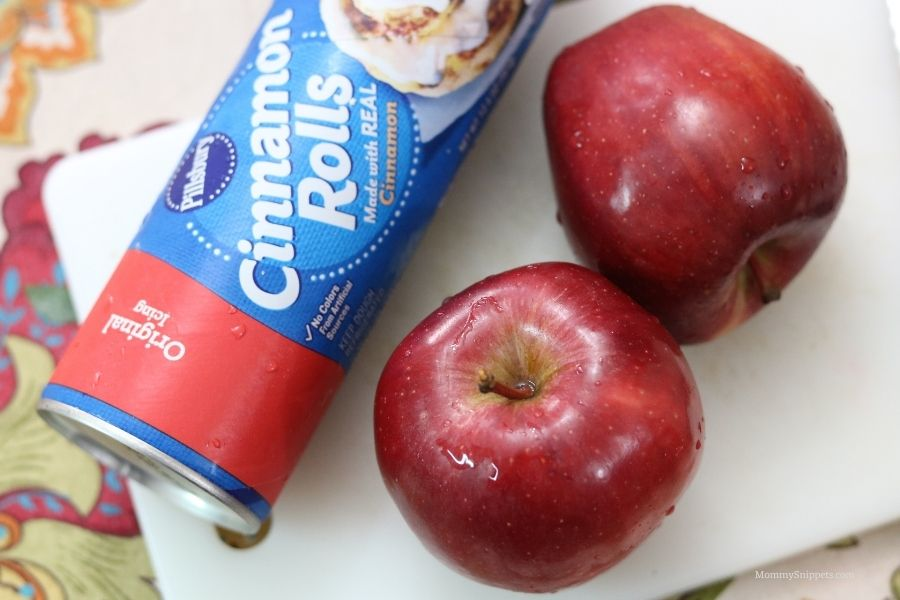 3 ingredient baked apple fritter