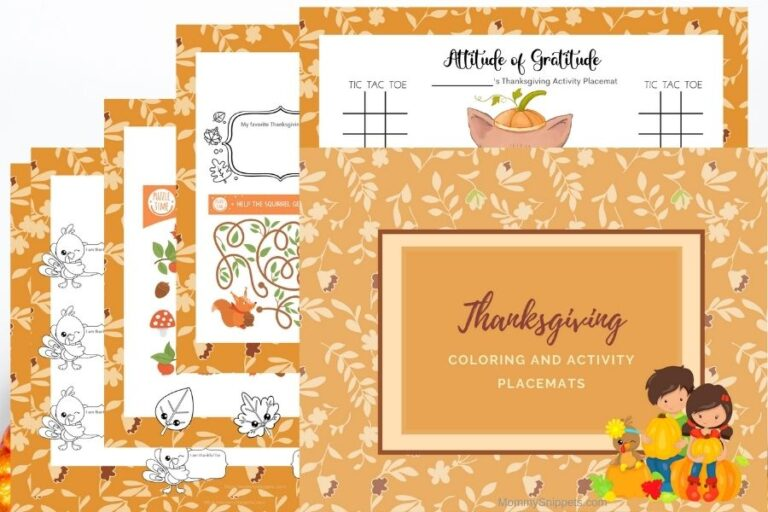 Fun Ways to Keep Kids Entertained on Thanksgiving Day (+ Printable Thanksgiving Activity Placemats)