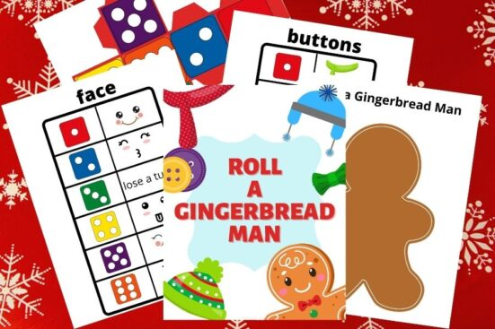 Roll a Gingerbread Game