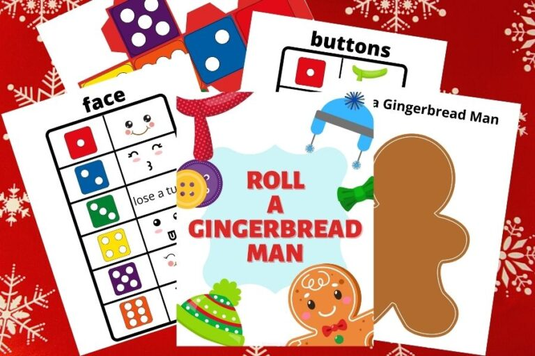 Free Printable Roll A Gingerbread Man Game