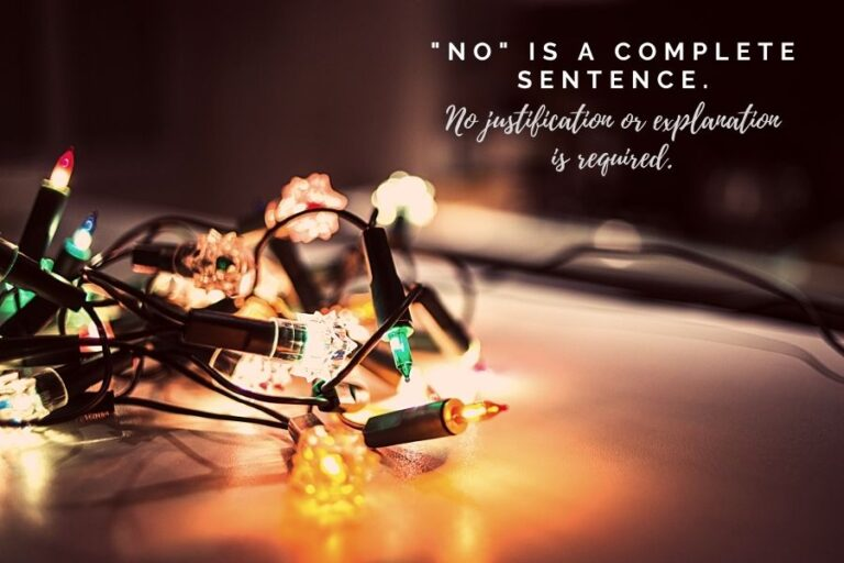 no is a complete sentence quote