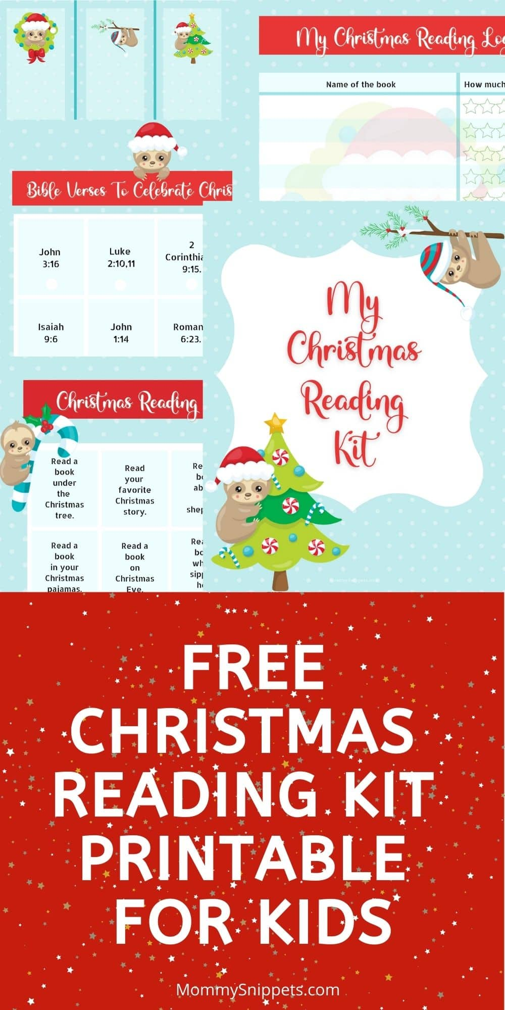 Free Christmas Reading Kit Printable for Kids