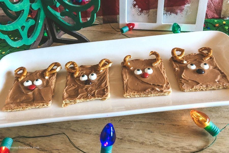 Easy No Bake Christmas Reindeer Treats