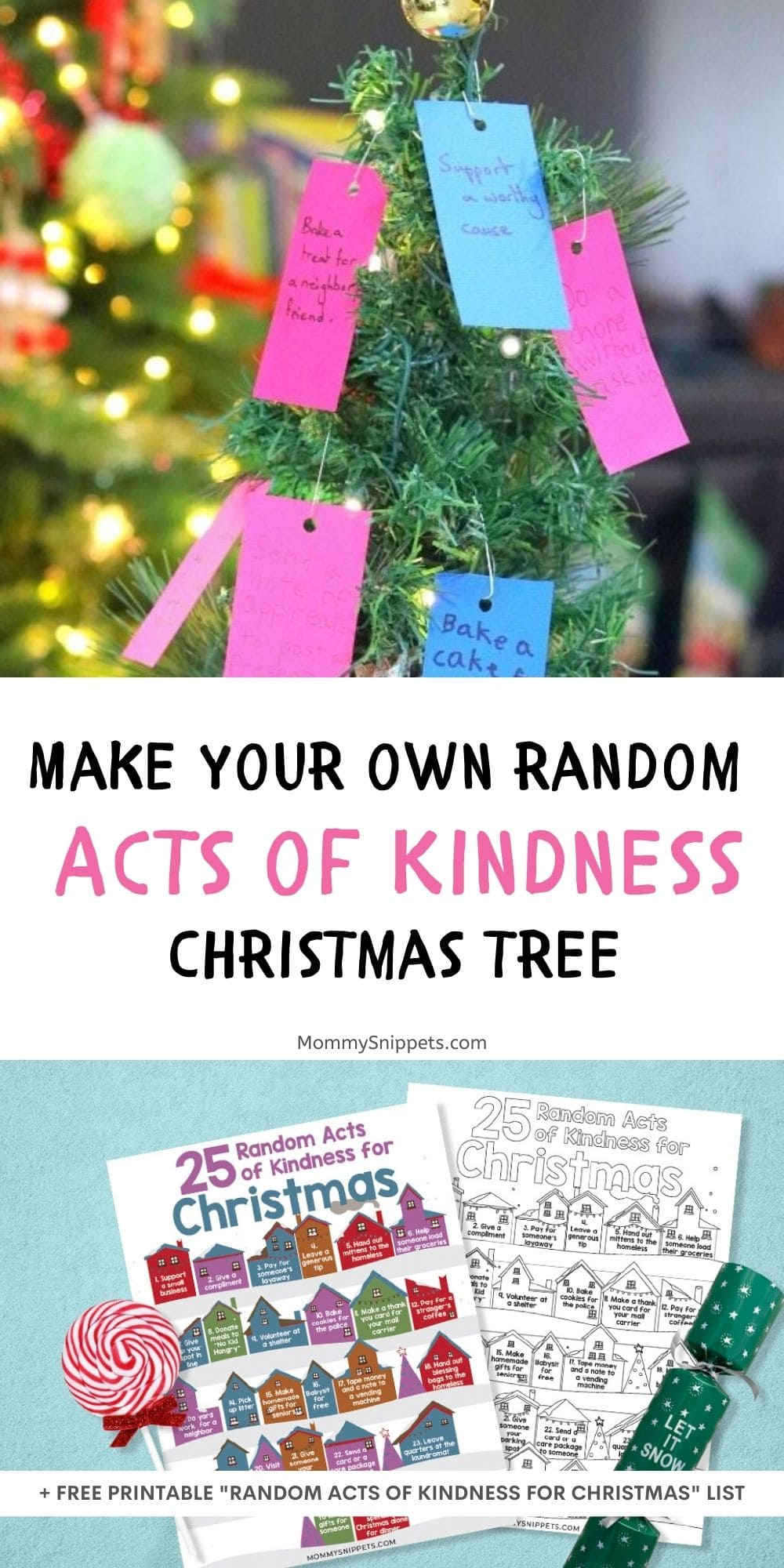 Our Random Acts of Kindness Christmas Tree (+ Random Acts of Kindness for Christmas Printable)