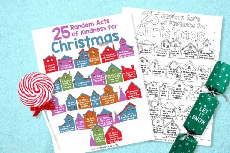 Our Random Acts of Kindness Christmas Tree (+ RAOK for Christmas Printable)