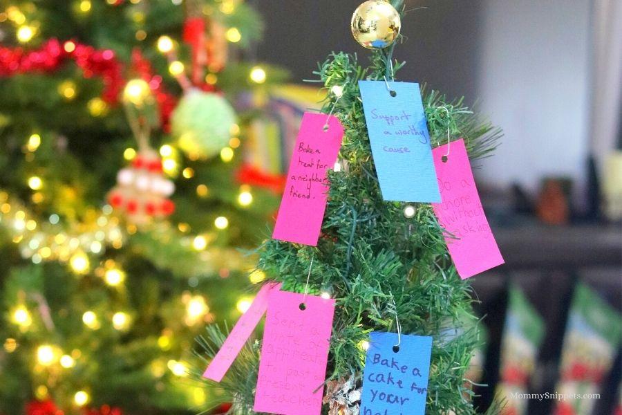 Random Acts of Kindness Christmas Tree.