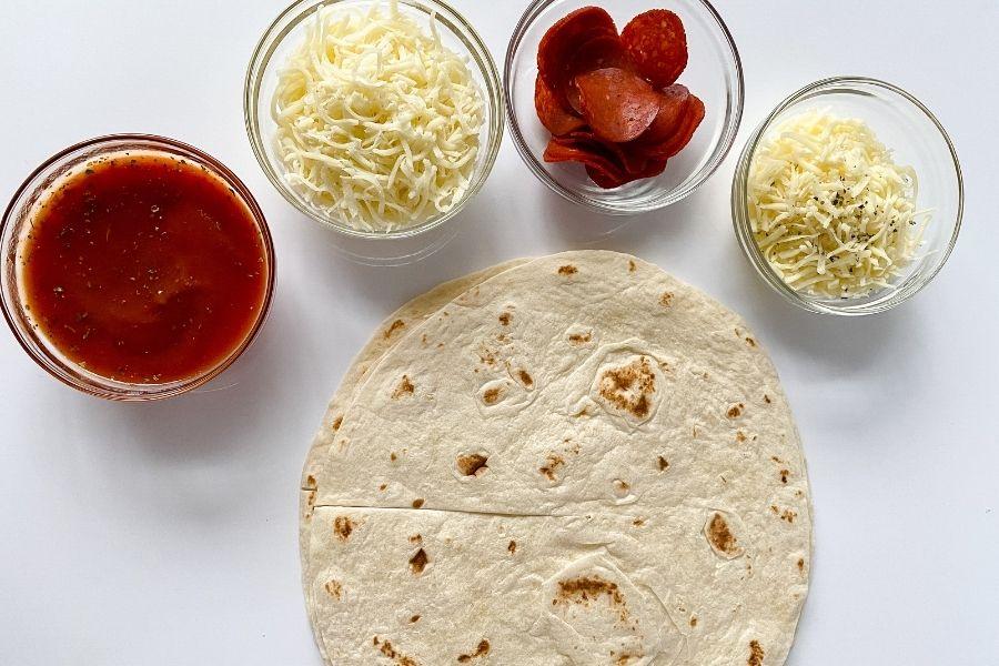 Easy Pizza Tortilla Wraps