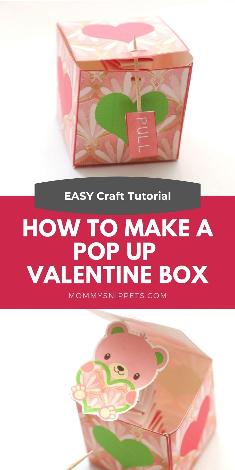 Easy Pop-Up Valentine's Day Craft Tutorial-MommySnippets.com