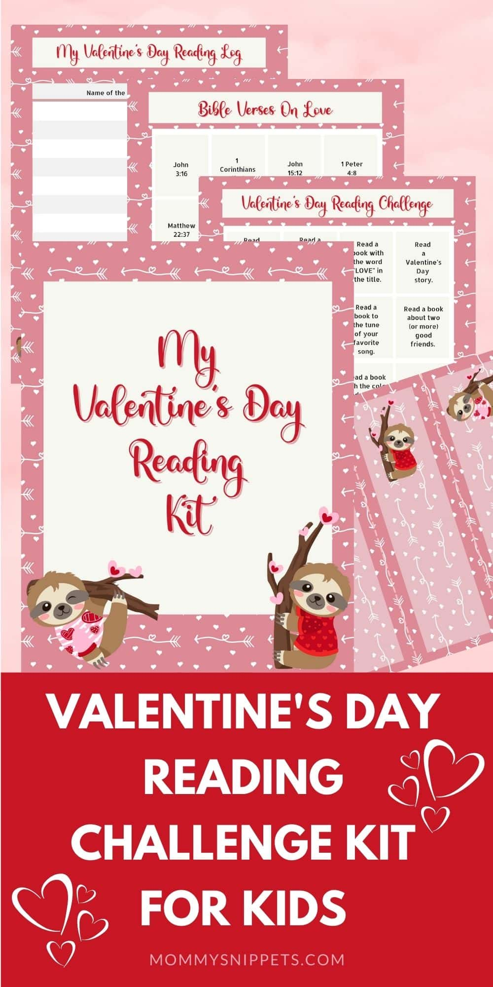 Valentine's Day Reading Challenge Kit for Kids- Mommy Snippets