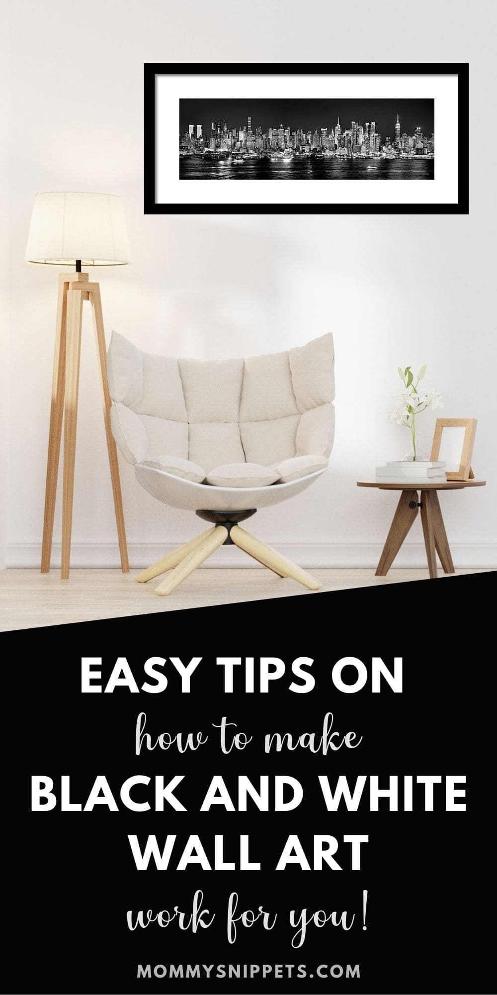 Easy Tips on How To Make Black and White Wall Art Work