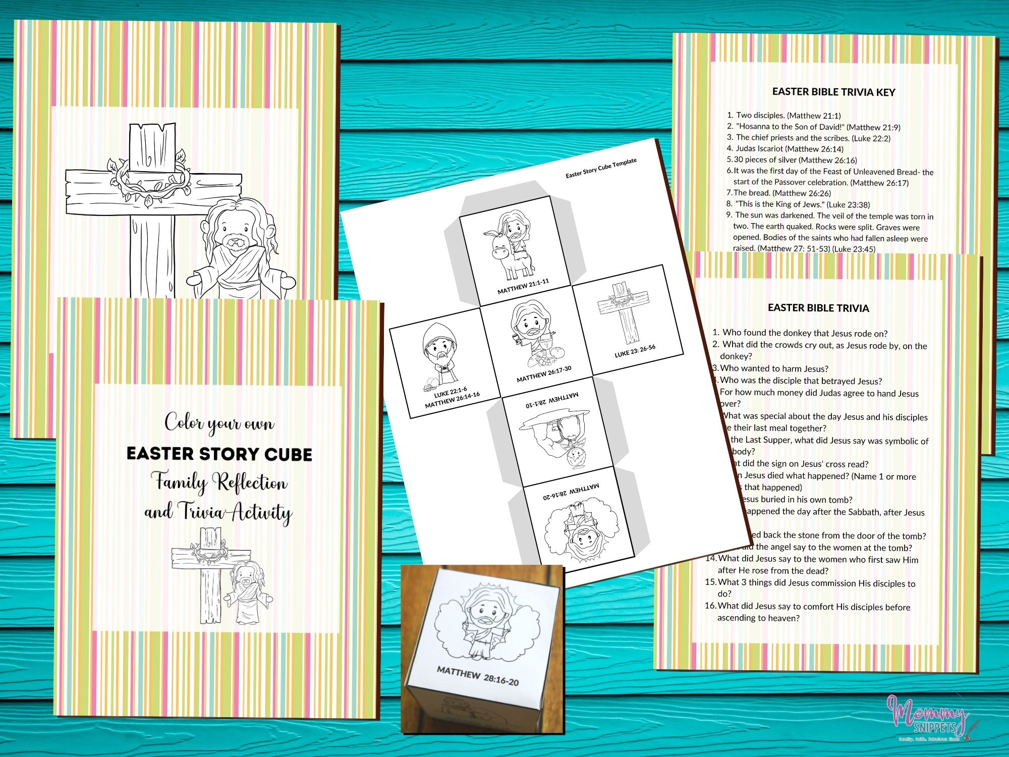 The Best Easter Story For Kids Story Cube Activity Printable Easter Game