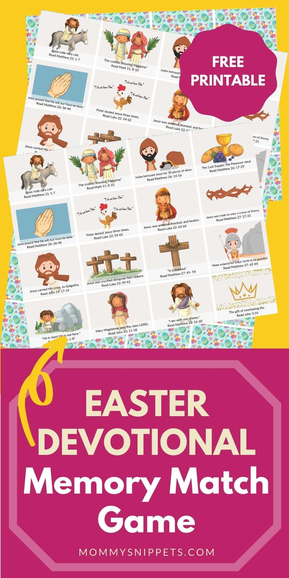 The Easter Devotional Memory Match Game Your Family Will Love (Free Printable)