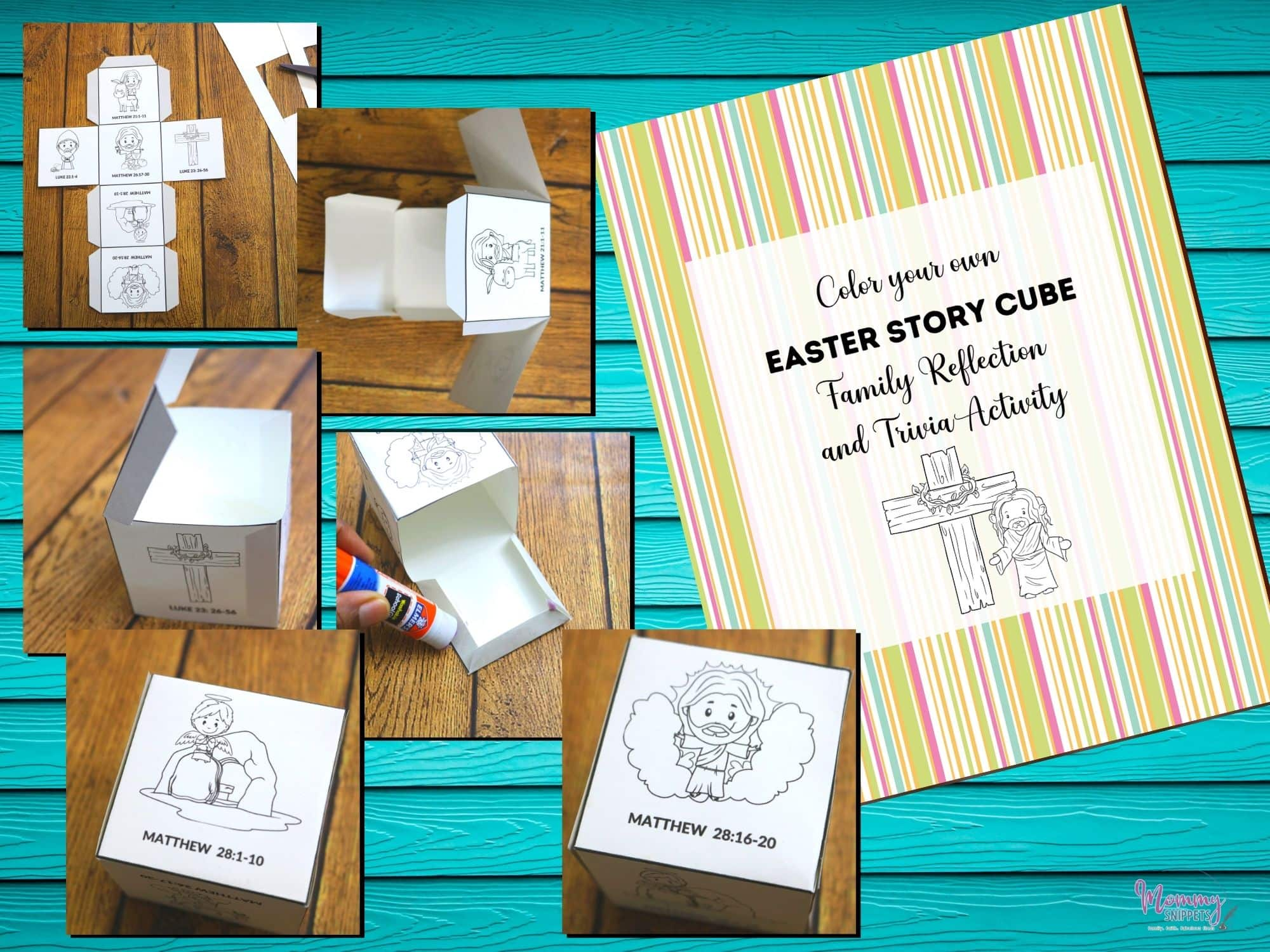 The Best Easter Story for Kids Story Cube Activity-MommySnippets.com