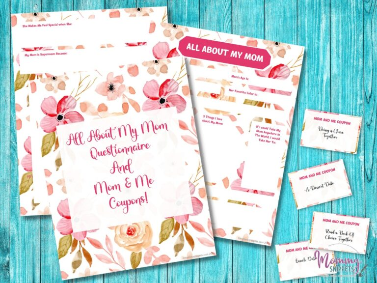 A Sweet Keepsake for Mom- All About My Mom Printable and Coupons