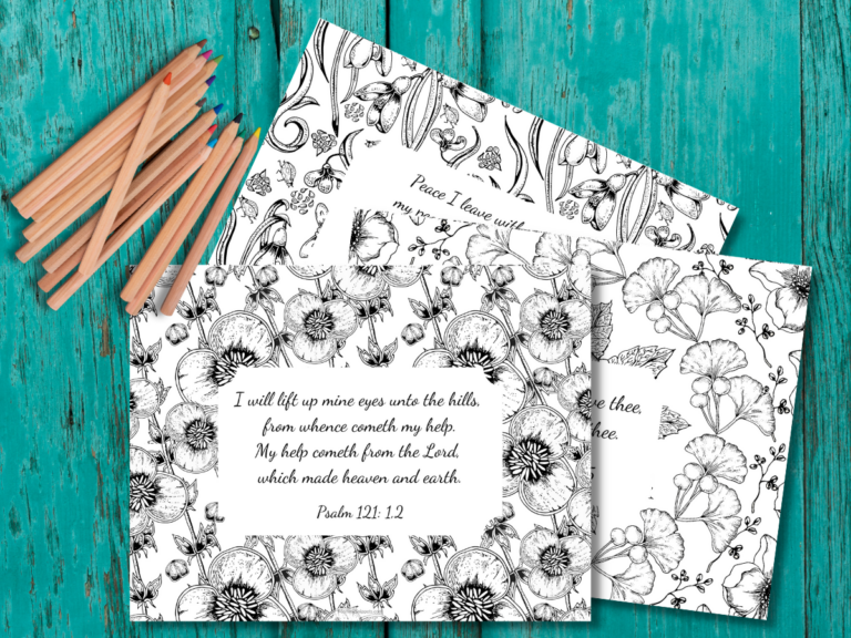 Uplifting Bible Verses to Encourage Your Spirit (+ Free Printable Scripture Coloring Sheets for Adults)
